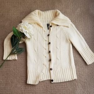 Ivory Woven Sweater